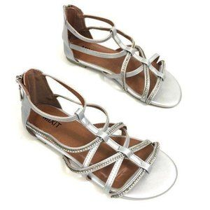 New JCPenney Silver Gladiator Sandals 6